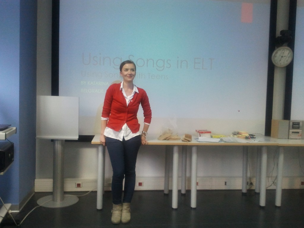 Lingva teacher Katarina Andrić presenting at Trainer Development Course at British Council Belgrade, June 2015