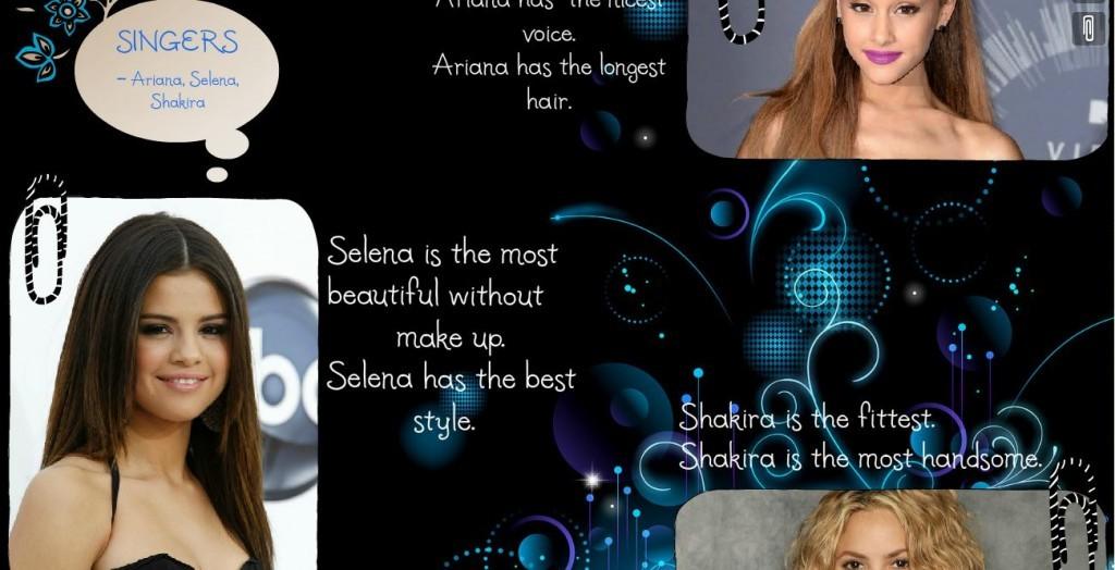 ariana&selena&shakira