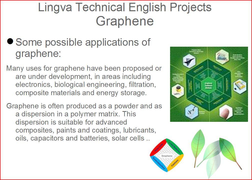 graphene applications by vesna kosovec